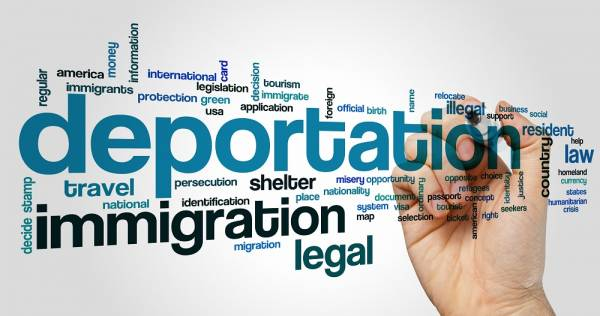 Deportation word cloud