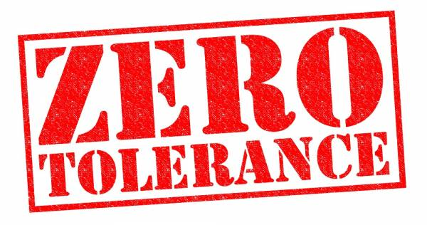 what are zero tolerance charges